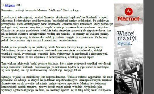 frg komentarz red wspianie do raportu biedrzyckiego